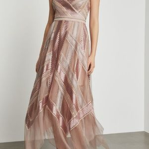 Metallic Striped Handkercheif Dress